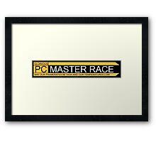 Glorious pc master race banner Framed Print