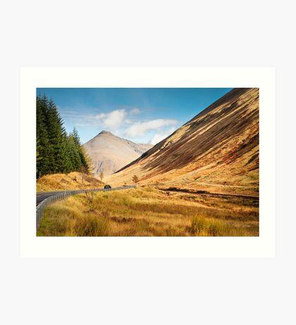 Scotland Highway Art Print