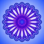 Blue Purple Flower Kaleidoscope 05 by fantasytripp