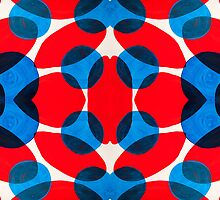 Red and Blue Ovals by Lisa Kyle Young