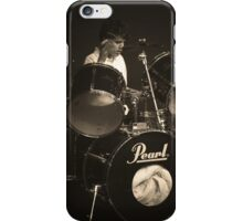 Caleb drumming with Complain iPhone Case/Skin
