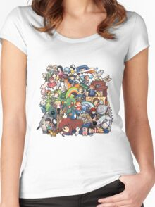 StudioGhibli Women's Fitted Scoop T-Shirt