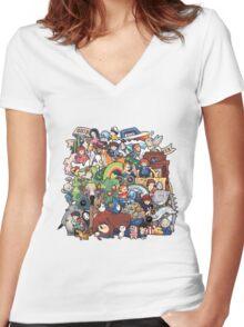 StudioGhibli Women's Fitted V-Neck T-Shirt