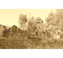 Graveyard in Tassie 1 Photographic Print