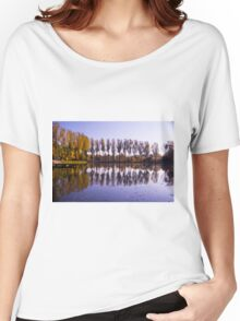 Line of Trees - Nature Photography Women's Relaxed Fit T-Shirt