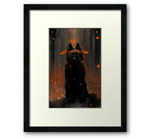 Crowned Wolf Framed Print