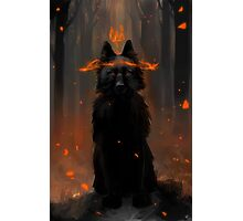 Crowned Wolf Photographic Print