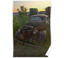 Rusty Pontiac Coupe Poster