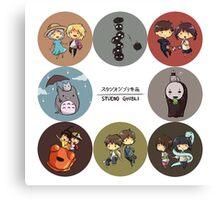StudioGhibli Pins Canvas Print