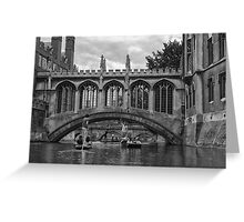 Punting on The River Cam Greeting Card