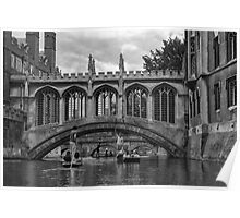 Punting on The River Cam Poster