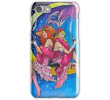 Saloon Girls On The Moon With Moon Cats! iPhone Case/Skin
