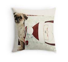 Santa Dog Throw Pillow