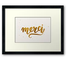 Merci Framed Print