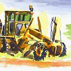 Roadmaster in Watercolor by KipDeVore