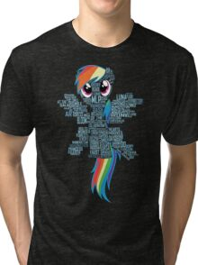 I am a brony because... Tri-blend T-Shirt
