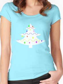 White Christmas tree Women's Fitted Scoop T-Shirt