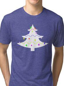 White Christmas tree Tri-blend T-Shirt