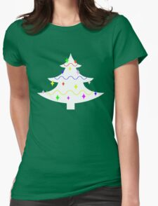 White Christmas tree Womens Fitted T-Shirt