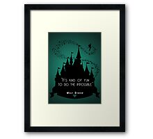 Disney Princess Castle Quote Framed Print