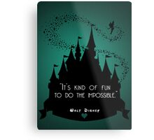 Disney Princess Castle Quote Metal Print