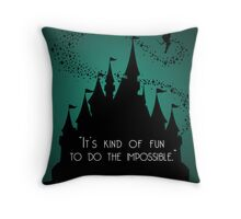 Disney Princess Castle Quote Throw Pillow