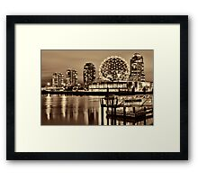 The Village Dock Framed Print