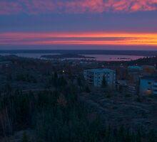 Yellowknife Sunrise - Yellowknife, NWT, Canada by Phil McComiskey