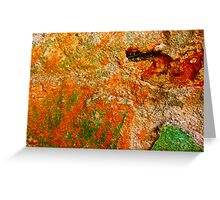 """""""Green and Orange Abstract"""" Greeting Card"""