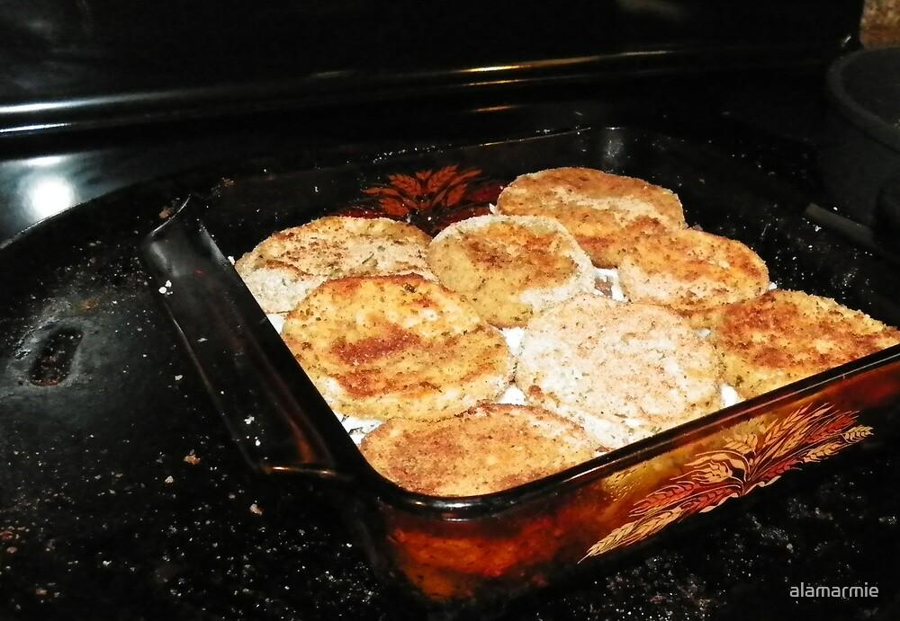 Beginning Layer Two: Eggplant Marsala by alamarmie