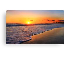 Sunrise over Kingscliff Canvas Print