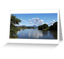 Mt Warning from the Tweed Greeting Card