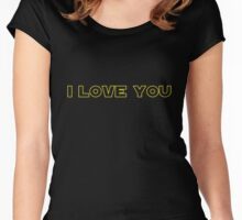 I love You - SW Couples Women's Fitted Scoop T-Shirt