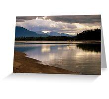 reflecting at the river Greeting Card