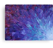 SCALES OF A DIFFERENT COLOR - Abstract Acrylic Painting Eggplant Sea Scales Ocean Waves Colorful Canvas Print