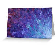 SCALES OF A DIFFERENT COLOR - Abstract Acrylic Painting Eggplant Sea Scales Ocean Waves Colorful Greeting Card