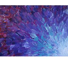 SCALES OF A DIFFERENT COLOR - Abstract Acrylic Painting Eggplant Sea Scales Ocean Waves Colorful Photographic Print