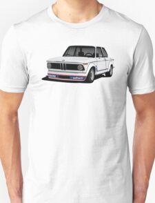 BMW 2002 Turbo (E20) white illustration T-Shirt
