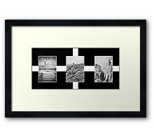 The Cornish Flag And Its Tin mines Framed Print