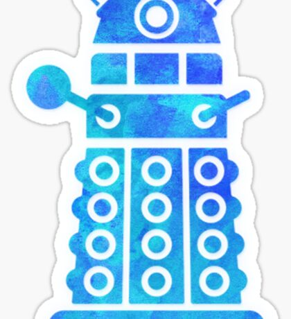 dalek blue version Sticker