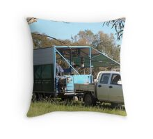 The Shearer & his 'Outfit' Adelaide Hills, Mount Pleasant. S.A. Throw Pillow