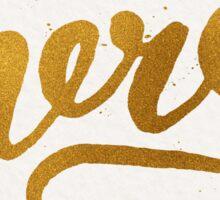 Gold Foil Hand Lettered Merci Sticker