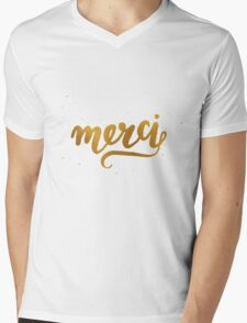 Merci Mens V-Neck T-Shirt