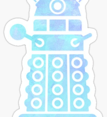 dalek blue pastel version Sticker