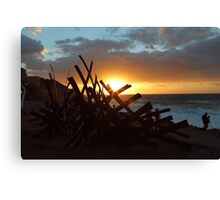 Sculptures By The Sea Sunrise Canvas Print