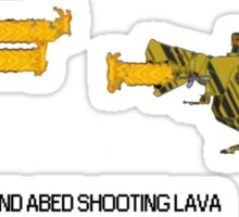 Troy and Abed Shooting Lava! (simple) Sticker