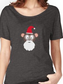 Monkey Santa Women's Relaxed Fit T-Shirt