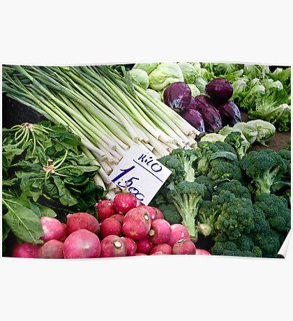 Fresh Vegetables Poster