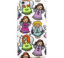 singing angels on white iPhone Case/Skin