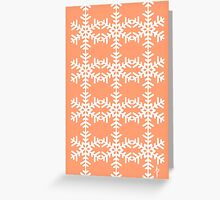Snowflake Pattern Greeting Card